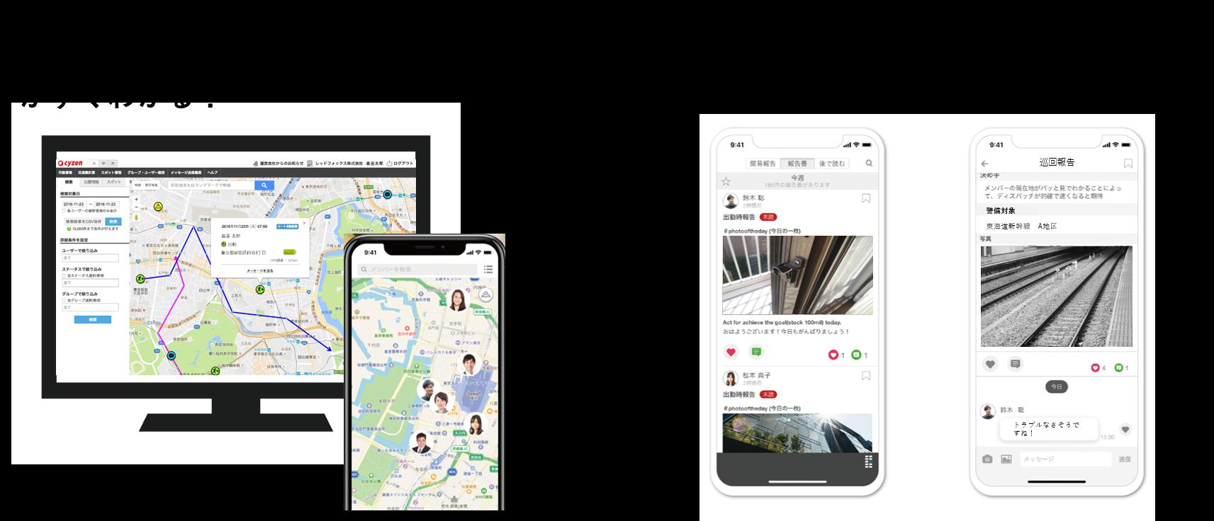 警備員管理の決定版アプリ。位置情報と写真簡単報告で対応力がUP!