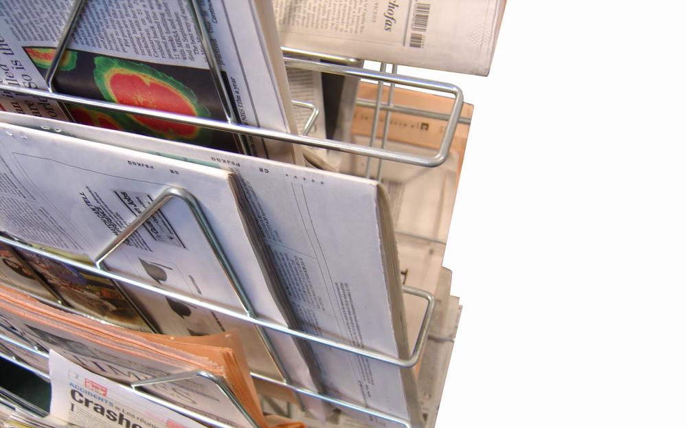 NewsPaper display close up