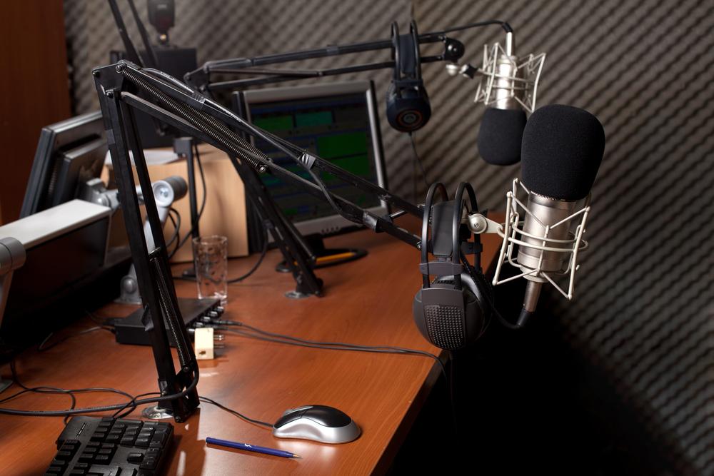 preparing the news broadcast